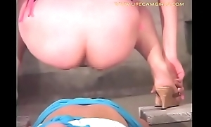 Brutal Asian girl feeds a young guy with his diarrhea, urine and menstruation. www.lifecamgirls.com