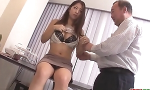 Satomi Suzuki dildo fucked and licked on clit by grandpa - More at Japanesemamas com