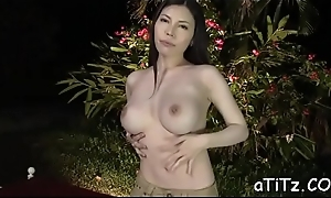 Enchanting japanese approximately marvelous knockers delights approximately blowjob