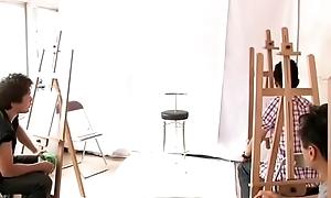 Japanese body painting class (Full: bit.ly/2DdT9PL)