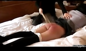 japanese slut feels the rake over the coals beater
