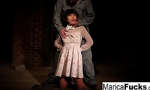 Marica gets stripped added to fondled in the basement