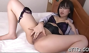 Alluring japanese receives explicit tits mashing and toying