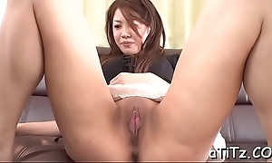 Stud bangs an ultra sexy asian beauty up lovely boobs