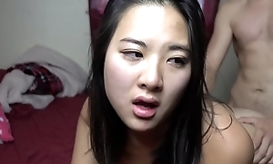 Asian Girlfriend CUM dripping out be advantageous to her vagina after hotpot @SukiSukiGirl