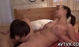 Mind-blowing and wild fucking nearly hot oriental couple