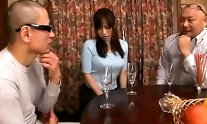Shameful japanese join in matrimony cheating blowjob then get toys and flower plugged up her ass while husband sleeping