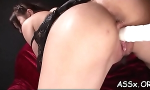 Cute asian receives lusty shaving rather than to deep ass fucking