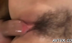 Enjoyable asian bends over prevalent experience non-stop messy space fingering