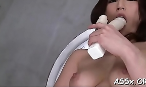 Bounded feel one's way gives in her anal tunnel for animal drilling