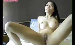 Hot Asian skirt fucked in hotel range - POV amateur webcam