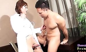 Spex ladyboy doctor riding everlasting cock