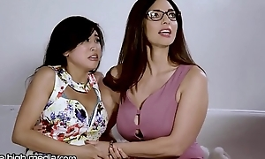 Big-busted Lesbian MILF Helps Juvenile Asian Conquer Fears!