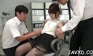 Chick gives wonderful blowjob and acquires shaggy pussy nailed