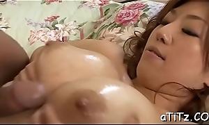 Big hooters japanese babe enjoys cross Trio sex
