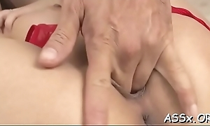 Oriental darling sucks ramrod promiscuous after lubricous anal hammering