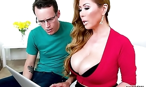 Busty oriental MILF Kianna Dior takes two dicks