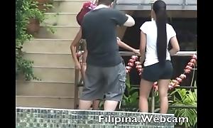 Filipina.webcam webcam girls glum bikini pool party competition in the Philippines