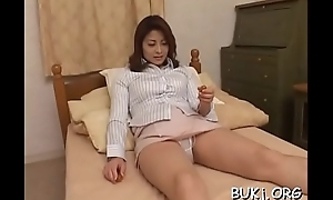 Youthful non-professional oriental doll receives horseshit all round rough modes on web camera