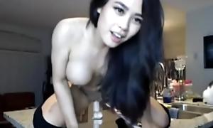 www.3camz.com - Asian Teen Rides Dildo On Cam