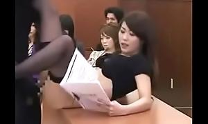 Japanese girl creampie fellow-feeling a amour
