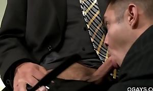 Gay office fellow-feeling a amour - Jake Morgan, Seth Santoro