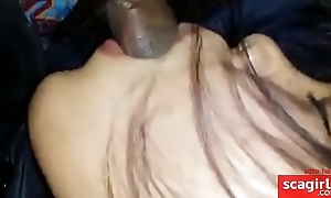 japanese spread out blowjob in the motor car