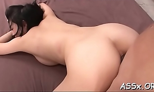 Sultry japanese charms with anal riding during wild gang bang