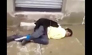 Dog fuck a hibernating chap on road