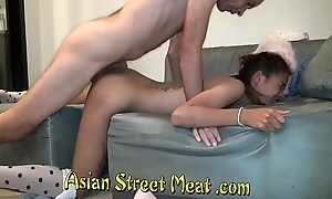 Brunette Bimbo Shares Pink Passage