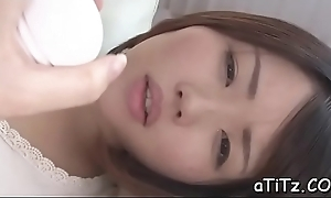 Asian chick with lovely billibongs toys plus plays with will not hear of hairy twat