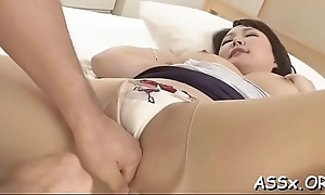 Bounded oriental gives up her anal tunnel be advantageous to uncultured drilling