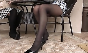 Pantyhose Asian Girl