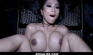 Sexy Asian Teen Caught Skinny Dipping Fucked By Neighbor POV