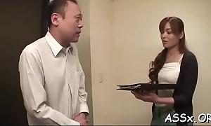 Croaking anal be advisable for shove around oriental hottie