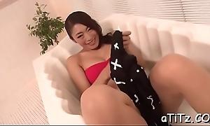 Moist oral-job outsider busty japanese