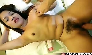 Asian Making love Diary - Cute Filipina struggles taking white cock