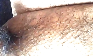 Asian bitchboy'_s little penis squirting by riding black marital-device