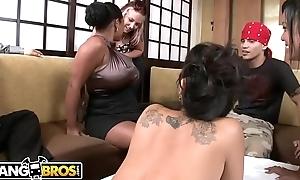 BANGBROS - Naked Sushi With Asian Pornstar Asa Akira and Tasha Lynn
