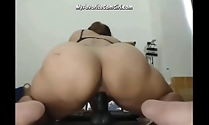 Busty Oriental Babe Fucking Her Fake penis Up Close