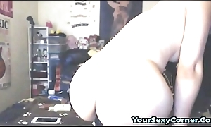 Asian Teen Bonks Coupled with Drollery On Giant BBC Dildo