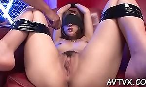 Toying a lewd japanese soaking crack