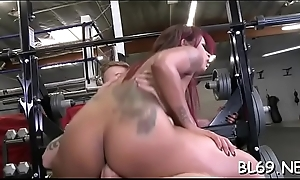 Threatening playmate receives sexy pounding
