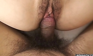 Her thick irritant can'_t stop riding his fur pie eager cock
