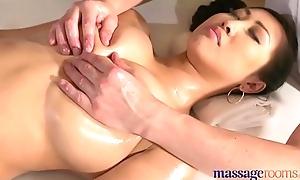 Massage Rooms Big natural tits Asian beauty has squirting orgasms