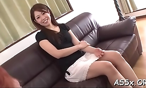 Uncultivated anal riding from cute oriental