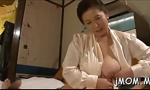 Girl gives oral-job and tit fellow-feeling a amour