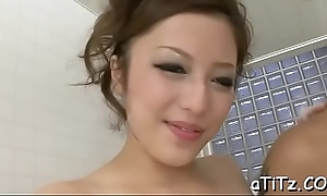Vigorous japanese boob fuck