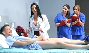 Gorgeous doctor teaches interns to fuck in a hardcore in like manner