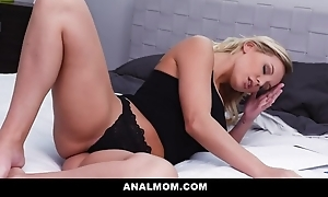 Beautiful blonde MILF gets her asshole fucked with an increment of creamed